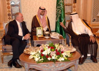Brennan with Saudi King Abdullah