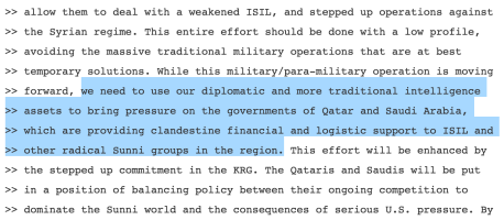 Clinton ISIS Email Excerpt