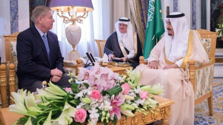 Lindsey Graham in Riyadh with Saudi King Salman